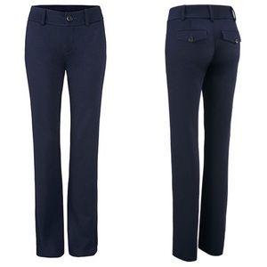 Cabi Navy Top-Notch Wide Leg Trouser Pants